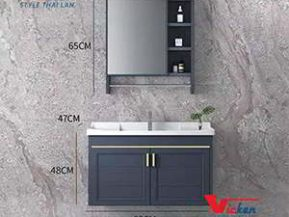 Tủ lavabo gỗ cao cấp vk 025