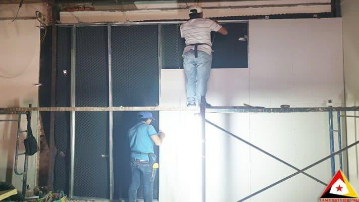 thi công cách âm tường nhà